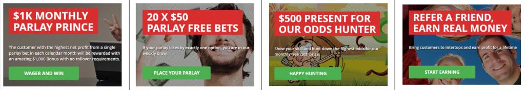 Intertops Sportsbook bonus offers