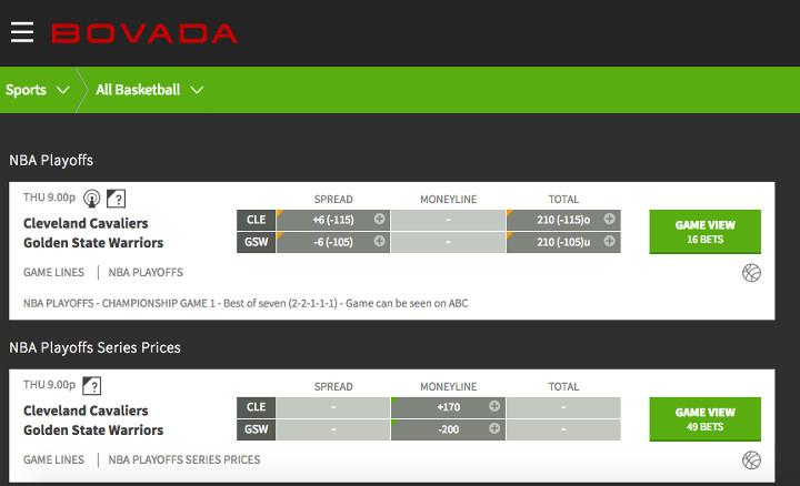 bovada-finals-odds