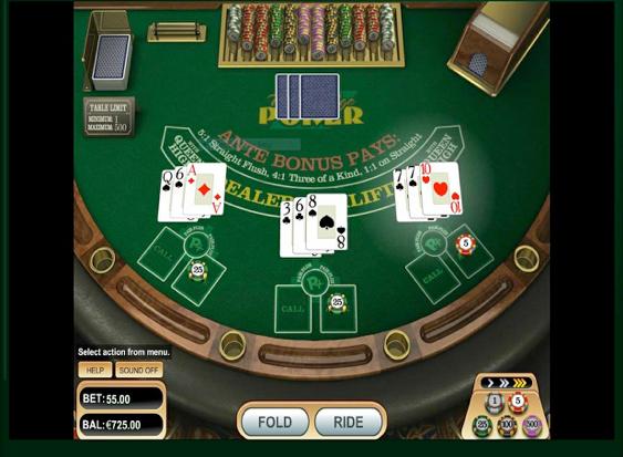 Three Card Poker Casino Games